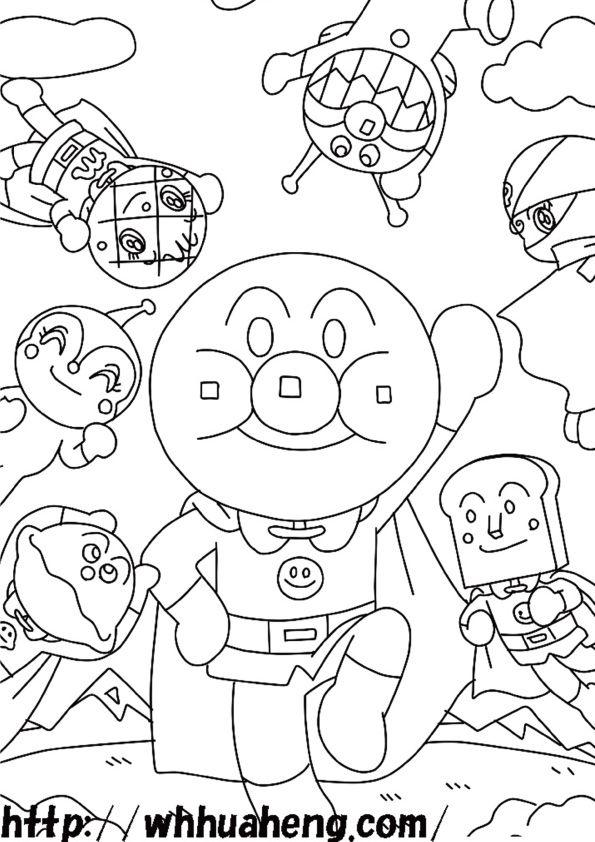 アンパンマン塗り絵ぬりえ Mickey Mouse Art Hello Kitty Coloring Free Preschool Printables