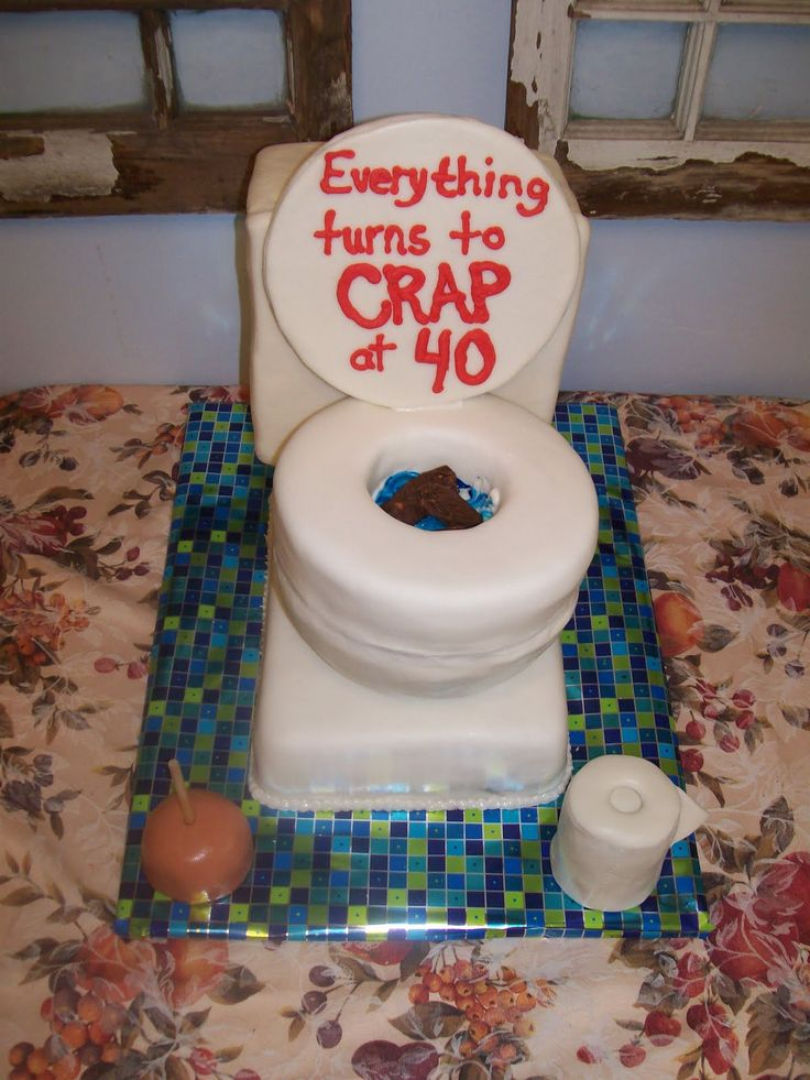 """Over the Hill Cake Ideas for Men   Toilet cakes are great for """"over the hill"""", plumbers, potty training ..."""
