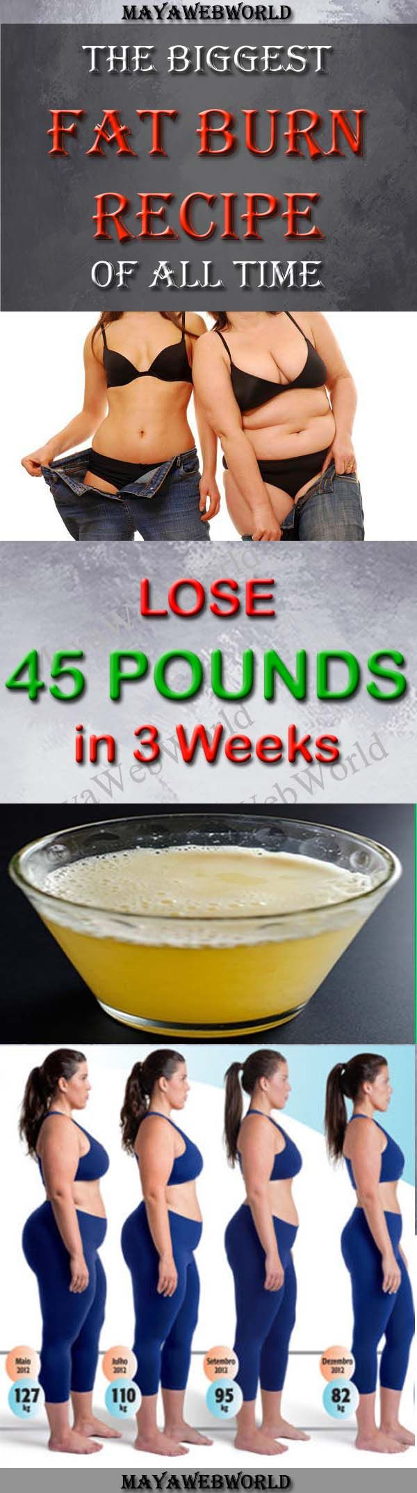 Easy Fat Burn- Lose 45 Pounds in 3 Weeks – MayaWebWorld