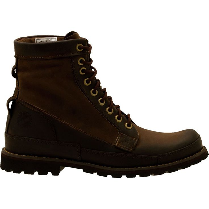 Timberland Earthkeepers Rugged Originals Leather 6in Boot Dark Brown  Burnished Oiled Nubuck 13.0