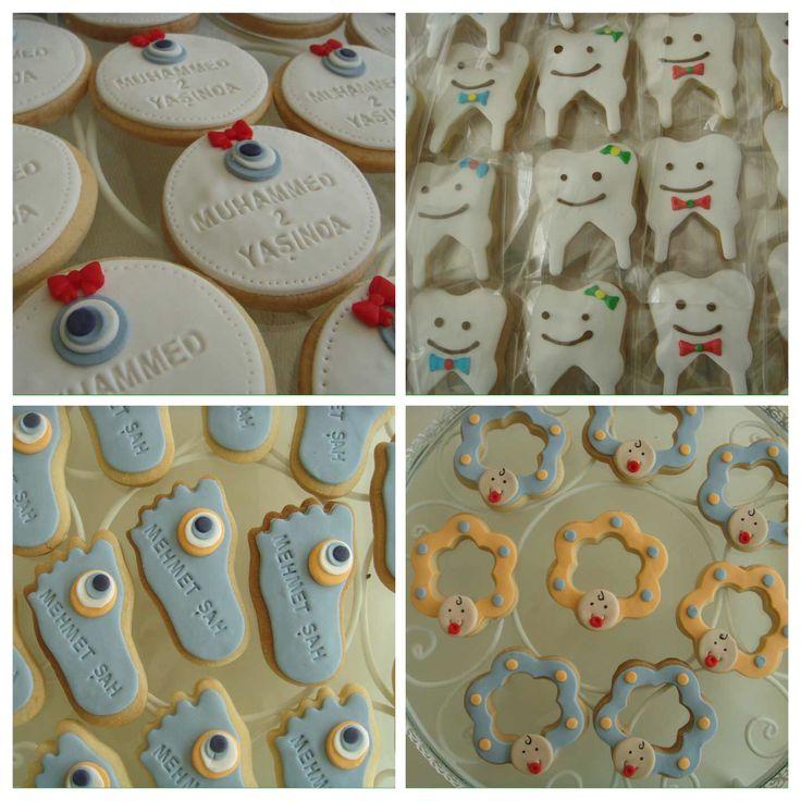 butik erkek bebek kurabiyeleri.! baby boy baby shower cookies.!