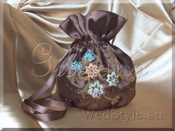 Свадебная сумочка Gilliann Шоколатте BAG286 #weddingbag #weddingclutch