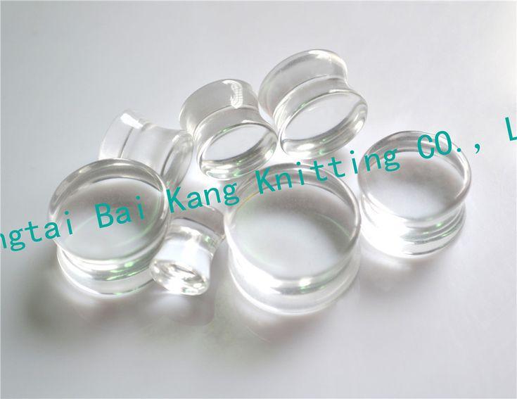 1PCS 8~20mm  Clear Transparent Sexy Ear Plugs Acrylic Flesh Tunnel Fashion Ear Expander Body piercing Stretcher Flared  Earring