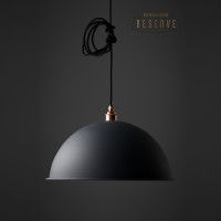 NL Reserve Canopy Lamp Shade | Matte Grey | Unique Lighting | nooklondon.com | Warehouse Home Design Magazine