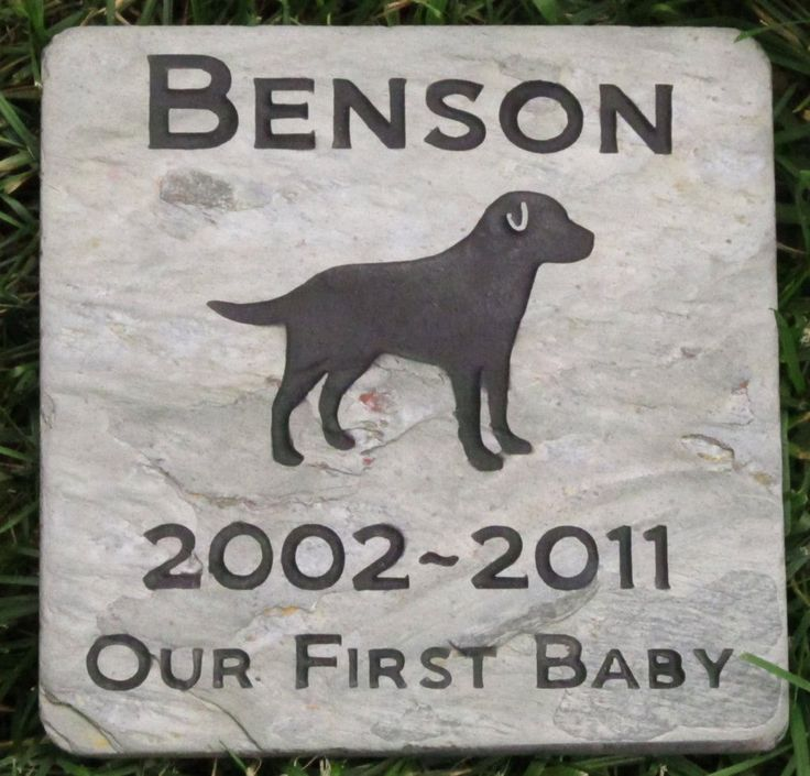 Labrador Retriever Pet Memorial Stone Memorial Gravestone Tombstone