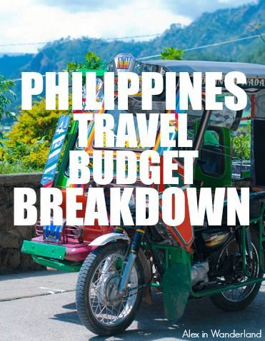 A dollor for dollar breakdown of the costs of a 21-day trip through the Philippines including flights, food, accommodation, transportation and miscellaneous expenses. | Alex in Wanderland #southeastasia #travel #budgeting