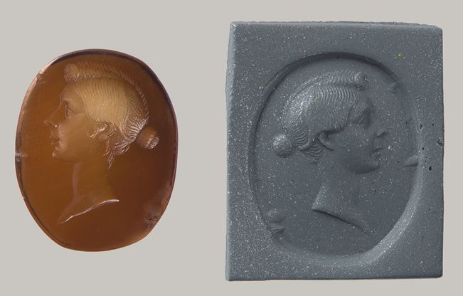 Intaglio Portrait of a Woman, possibly Octavia, Sister of Emperor Augustus, c. 1st century BC - 1st century AD