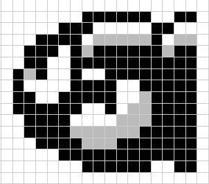 Bullet Bill Mario perler bead pattern