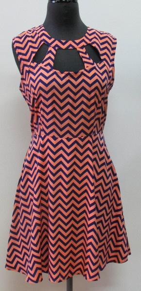 Chevron Cut Out Dress  shopcocobella.com