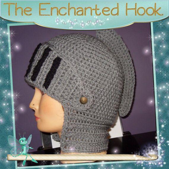 Crochet Roman Soldier Helmet by TheEnchantedHook on Etsy, £27.10