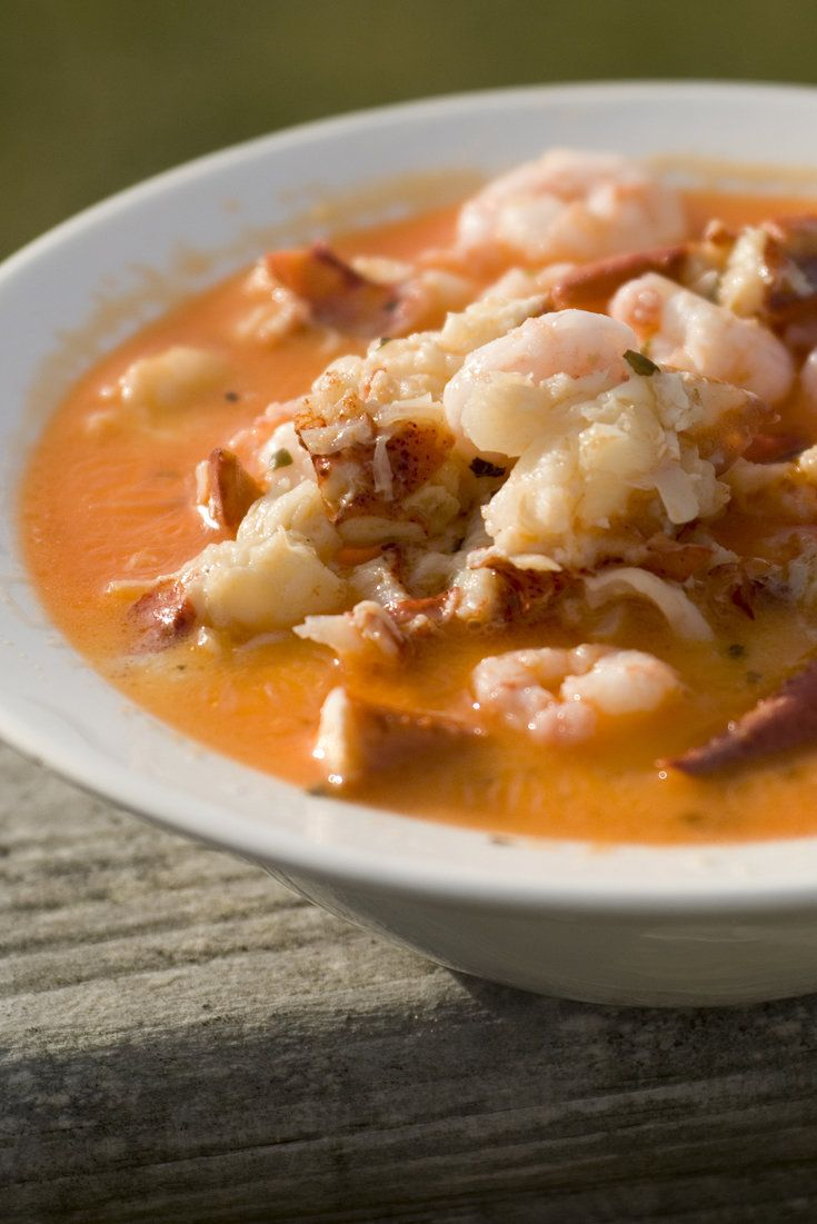 A lobster chowder fit for a Maine Lobsterman.