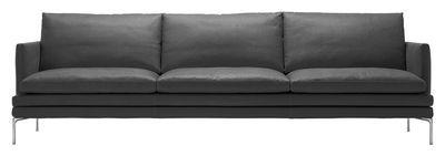 Canapé droit William / Tissu - 3 places - L 266 cm Tissu - Gris anthracite - Zanotta - Décoration et mobilier design avec Made in Design