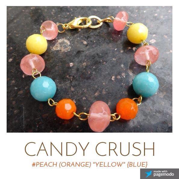 Candy crush  #bracelet #blue #yellow #orange #peach