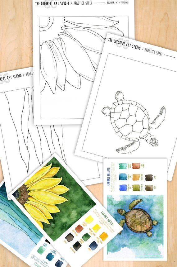Learn To Paint Watercolor Kit Beginner Practice Set For Paint