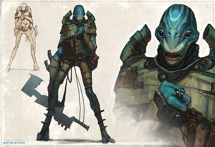 Character Design Intern : Aliens artofben concept art pinterest