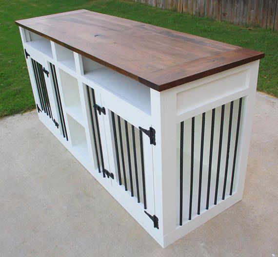 Fait sur commande sur-mesure chien Crate mobilier niche