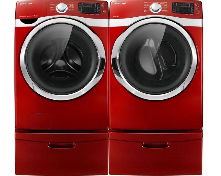Front loading washer and dryer in red - love the set I have now, but next upgrade will include a steam function.  And colour.