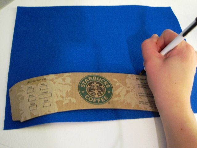 How to Make Felt Coffee Cup Sleeves. Easy to personalize.