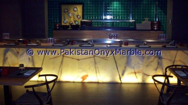 Restaurant Kitchen Wall Panels backlit onyx kitchen countertops backlighting onyx kitchen