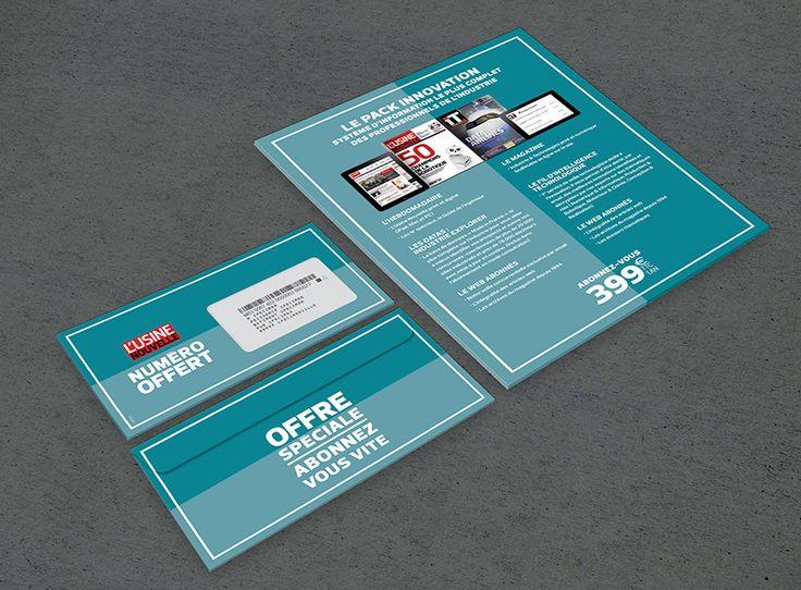 Ynfluence - Création marketing direct pour le groupe GISI - LSA -L'argus de l'assurance - Usine Nouvelle