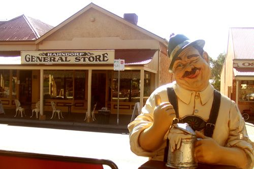 The  Adelaide Hills town of  of Hahndorf.