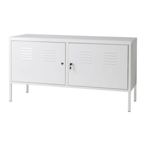 I've always loved this locker style cabinet from Ikea. Has lockable doors to keep things away from the boys :)