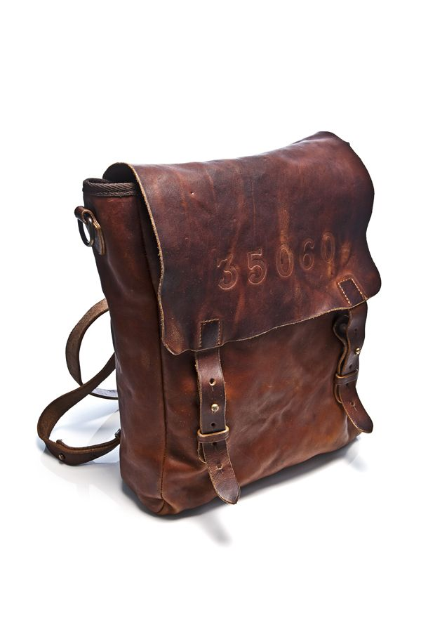 Mens leather backpack by Hollywood Trading Company