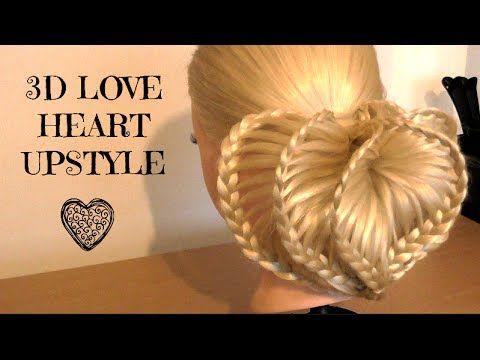 3D Loveheart upstyle / Hair Tutorial / HairGlamour / hairstyles - YouTube
