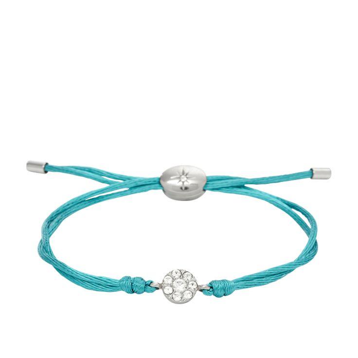 Bracciale in cordino turchese con cristalli #FOSSIL Jewels - #ororagioiellerie
