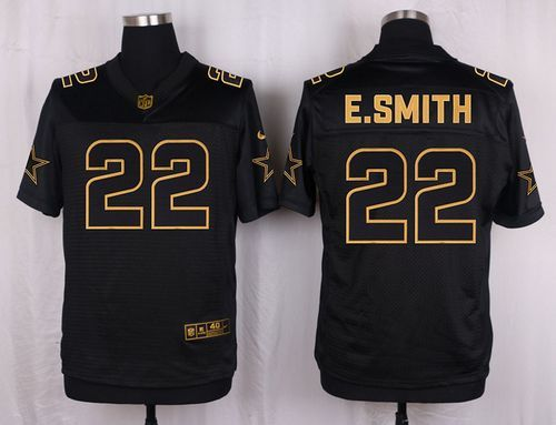 Nike Cowboys #22 Emmitt Smith Black Men's Stitched NFL Elite Pro Line Gold Collection Jersey And Lamar Miller jersey