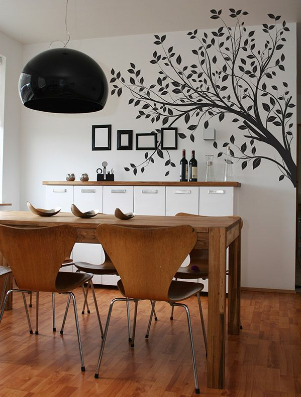 Delightful Dining Room Painted Wall Design / Wall Decal #diningroom #walldesign  #walldecal