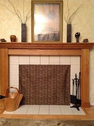 Insulated decorative magnetic fireplace draft stoppers to ...