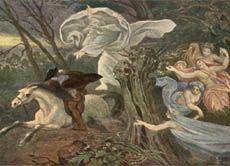 """Illustration zu Goethes Ballade vom """"Erlkönig"""" von Moritz von Schwind"""