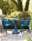 Metal Bistro Set Outdoor Patio Garden Dining Table Chairs Victorian Antique