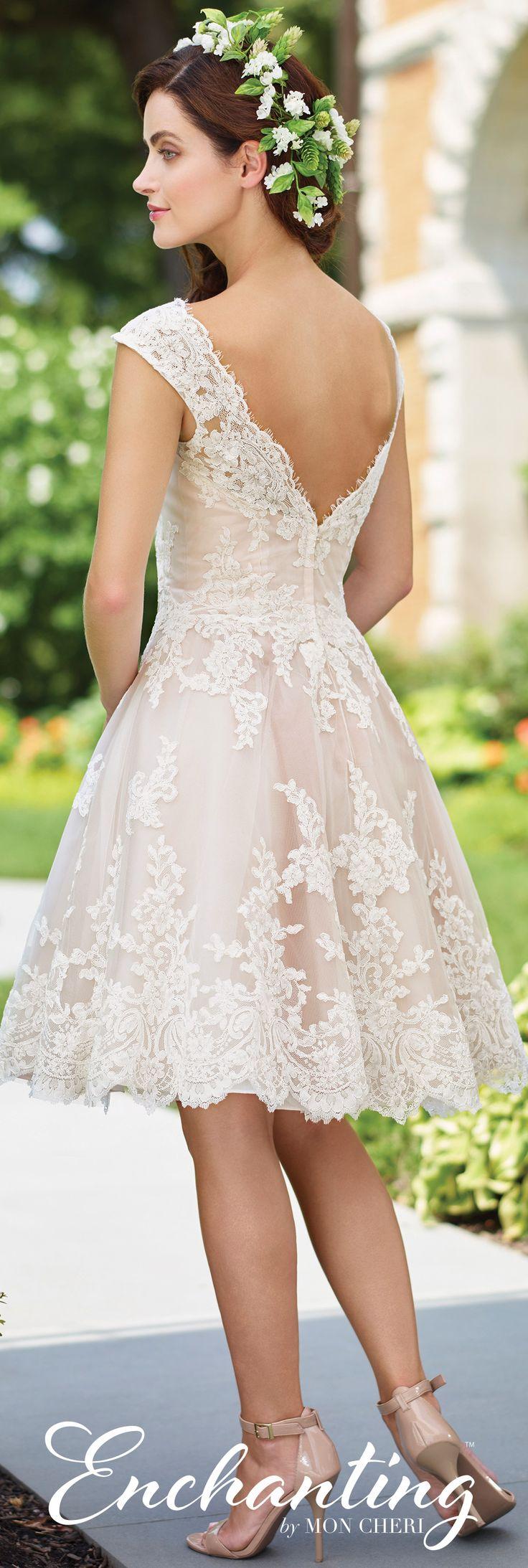 Knee length wedding dress 117185 enchanting by mon cheri for Inexpensive short wedding dresses