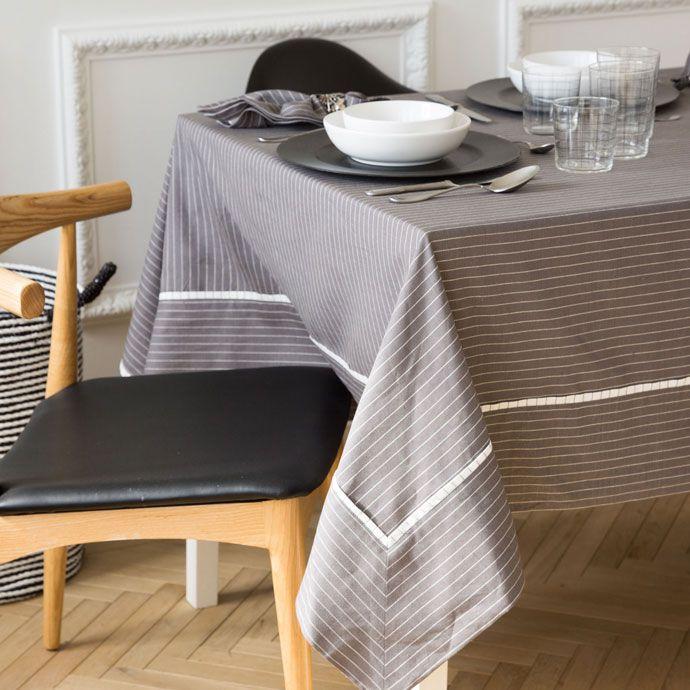 Nappe lin et rayures 170*250 - Zara Home 70€