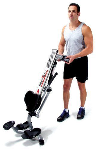 Home rowing machine with compact footprint--23.5 x 46 inches Adjustable gas-shock resistance Monitor shows time, stroke count, and calories burned
