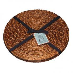 Natural bambusz rattan kerek tányéralátét