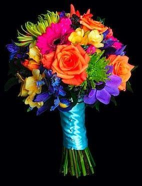 bright wedding bouquets