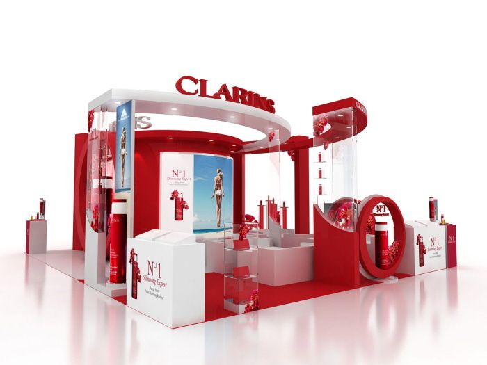 Cosmetic Exhibition Stand Design : Clarins event by tommy cheung at coroflot 【design