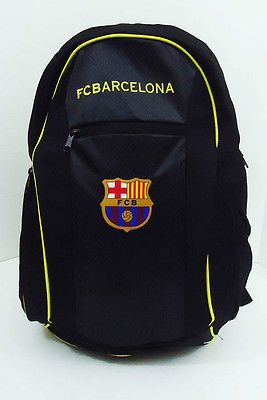 FC Barcelona Soccer BACKPACK With Ball Pocket New Football 19x 14x 9in FCB