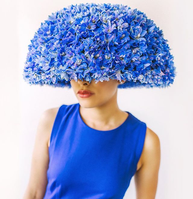 Thrilled to hear the news this morning that this hat won a gold medal in Fusion Flowers International Designer of the Year contest! Thank you @amanda_dumouchelle  for the incredible photo that brought this piece to life. Model: the amazing @opppperate #floralfashion #wearableart #flowerpower
