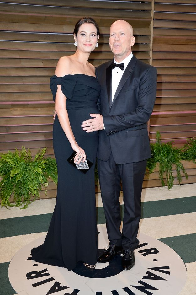 Emma Heming & Bruce Willis | The 16 Most Beautifully Dressed Couples At The Academy Awards