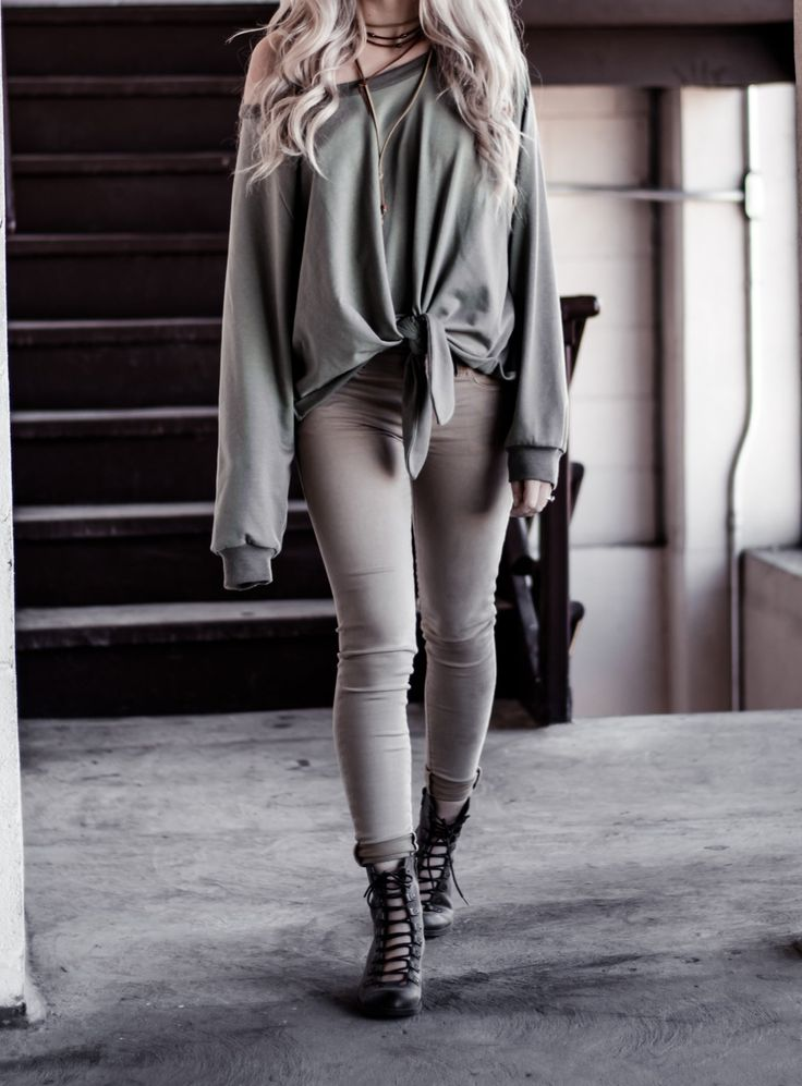 Knotted Sweater and Combat Boots | WEARFATE by Mollie Moon | A Fashion Blog