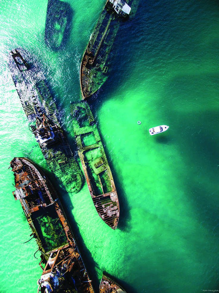 Snorkel among shipwrecks in Moreton Island, Queensland. Number 7 on our aquatic playgrounds.