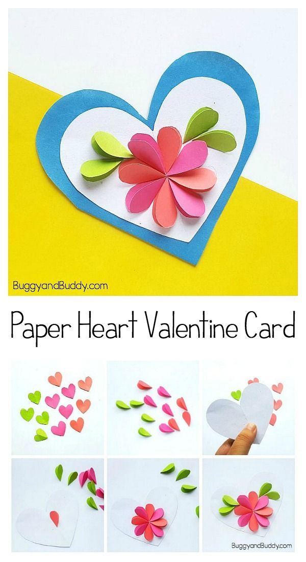 Easy To Make Mother S Day Card Using Paper Hearts With Free Template Valentine Cards Handmade Valentine S Cards For Kids Valentines For Kids