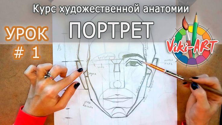 Как нарисовать портрет: ПОЛНЫЙ РАЗБОР! Пропорции головы и лица. Анатомия...
