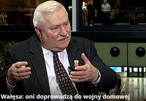 Wałęsa: obalenie obecnej władzy siłą