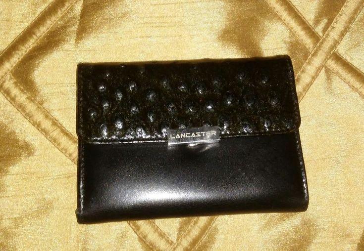 LANCASTER Paris Modele Depose OSTRICH Leather Wallet Yellow #LANCASTER #Trifold
