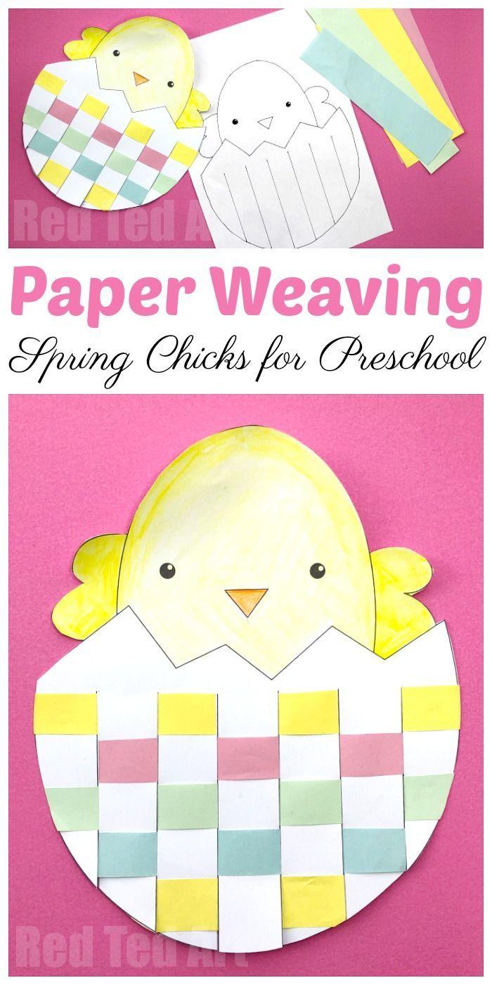 Easter Egg & Chick Paper Weaving - Red Ted Art's Blog